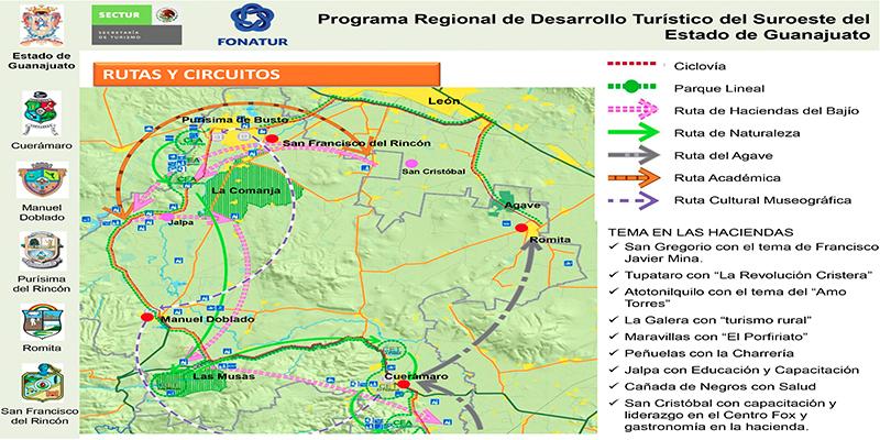 PDT de la Región Suroeste de Guanajuato, Estado de Guanajuato
