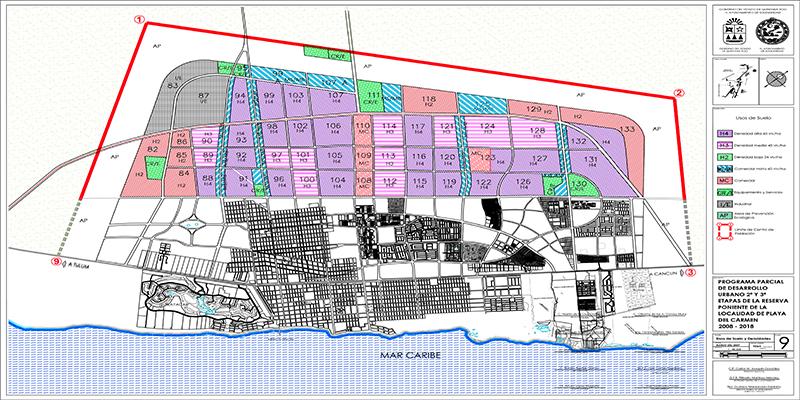 PPDU 2ª y 3ª etapas de la reserva poniente de Playa del Carmen